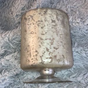 P/H Frosted Mercury Yankee Candle Holder